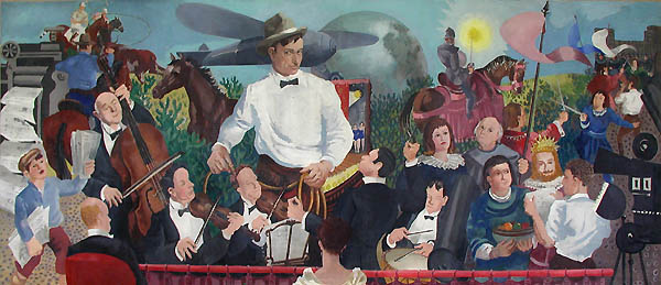 Randall Davey, 'Will Rogers', muurschildering in tempera, 1939, postkantoor Claremore (Oklahoma), Image courtesy of the USPS