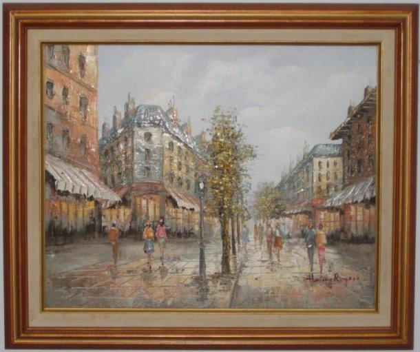 Schilderij, gesigneerd Henry Rogers, uit ouderlijk huis Phil Lord